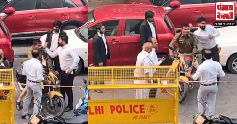 साकेत अदालत में वकीलों ने की पुलिसकर्मी की पिटाई