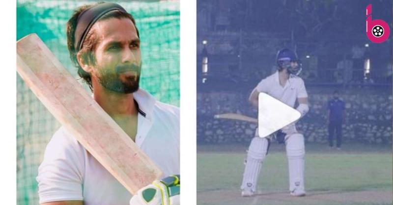फिल्म जर्सी के लिए क्रिकेट ट्रेनिंग के दौरान शाहिद कपूर ने लगाया लम्बा सिक्स, भाई ईशान ने ऐसे किया चीयर