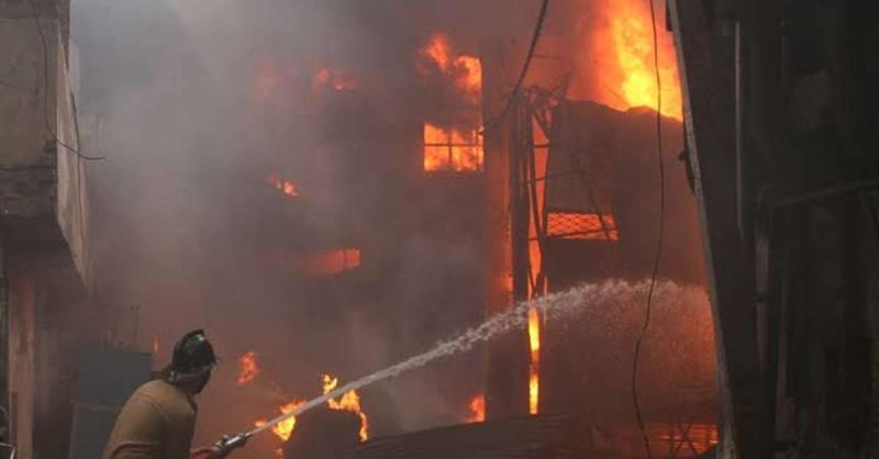 लुधियाना में होजरी इकाई में लगी भयंकर आग