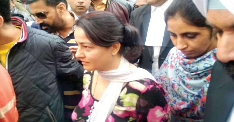 पंचकूला में भड़की हिंसा को लेकर कोर्ट में पेश हुई हनीप्रीत