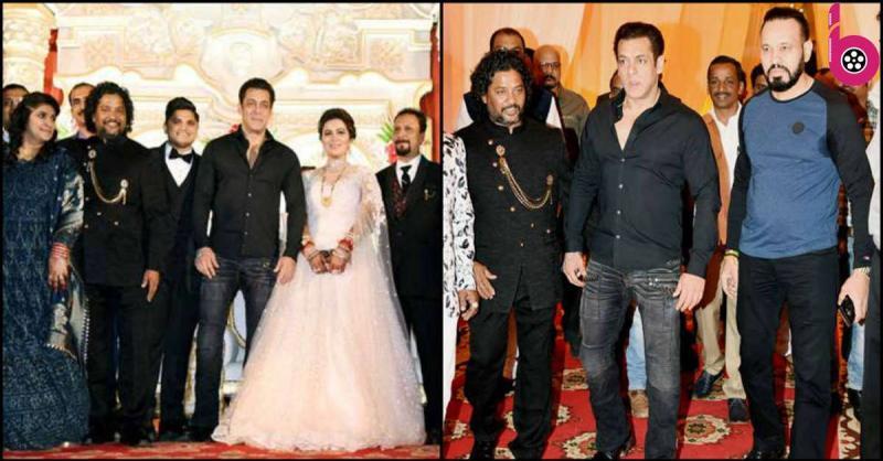 बिना बताये अचानक मेकअप आर्टिस्ट के बेटे की शादी में पहुंचे सलमान खान , दूल्हा - दुल्हन रह गए हैरान