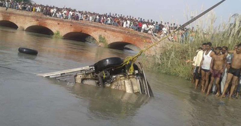 हरियाणा के नहर में कार गिरी, 4 लोगों की मौत