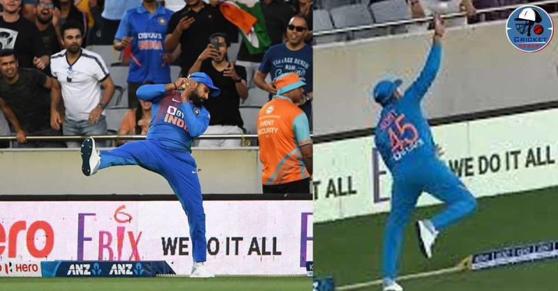 IND vs NZ: रोहित शर्मा ने बाउंड्री लाइन पर हवा में छलांग लगाकर पकड़ा शानदार कैच, वीडियो वायरल