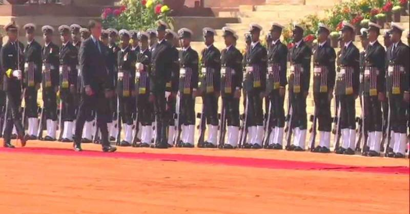 ब्राजील के राष्ट्रपति का राष्ट्रपति भवन में रस्मी स्वागत
