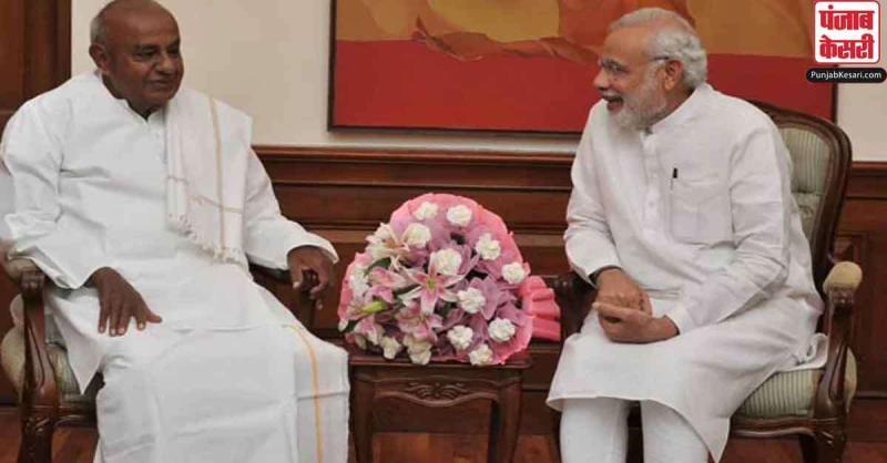 नरेन्द्र मोदी ने पूर्व प्रधानमंत्री देवेगौड़ा के जन्मदिन पर दीं शुभकामनाएं