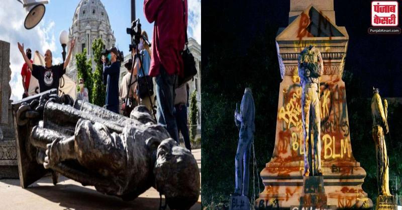 US में जॉर्ज फ्लॉयड की मौत के बाद दुनियाभर में ऐतिहासिक स्मारकों पर हमला जारी