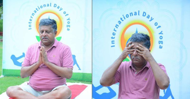 योग भारत की विरासत है स्वस्थ बनने एवं स्वस्थ बनाने के लिये: रविशंकर प्रसाद