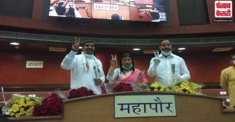 MCD चुनाव : भाजपा पार्षद अनामिका मिथिलेश और निर्मल जैन दक्षिणी और पूर्वी दिल्ली के उपमहापौर निर्वाचित