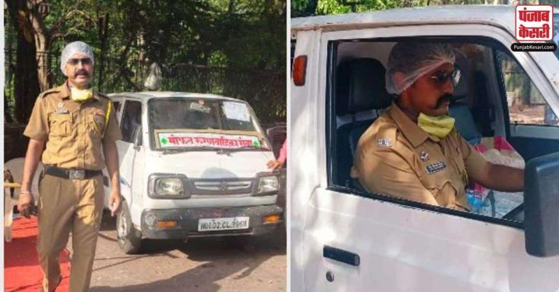 मुंबई पुलिस का यह जवान अपनी खुद की एंबुलेंस से कोरोना मरीजों को पहुंचाता है अस्पताल