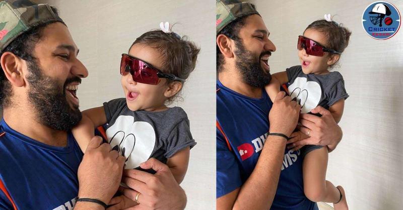 रोहित शर्मा ने बेटी के साथ ये क्यूट तस्वीर की शेयर, चश्मा पहने समायरा आई नजर, वायरल हुई फोटो