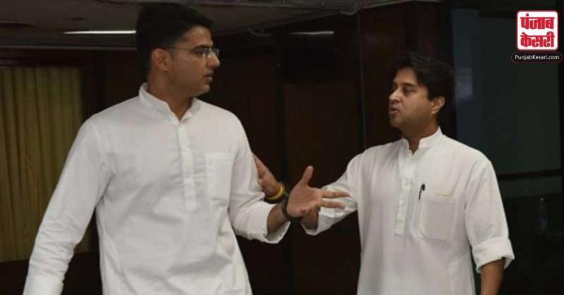 राजस्थान सियासी संकट के बीच, ज्योतिरादित्य सिंधिया से मिले सचिन पायलट