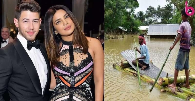 प्रियंका चोपड़ा ने असम बाढ़ पीड़ितों के लिए बढ़ाया मदद का हाथ,पति निक संग मिलकर दिया डोनेशन