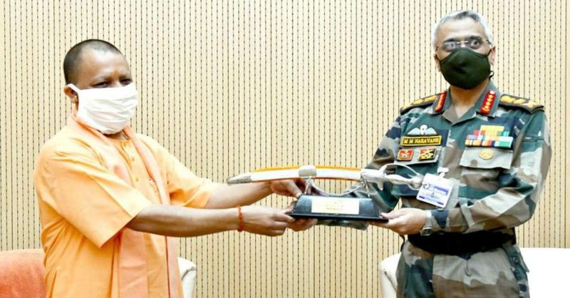 आर्मी चीफ जनरल एमएम नरवणे का लखनऊ दौरा, CM योगी से की मुलाकात