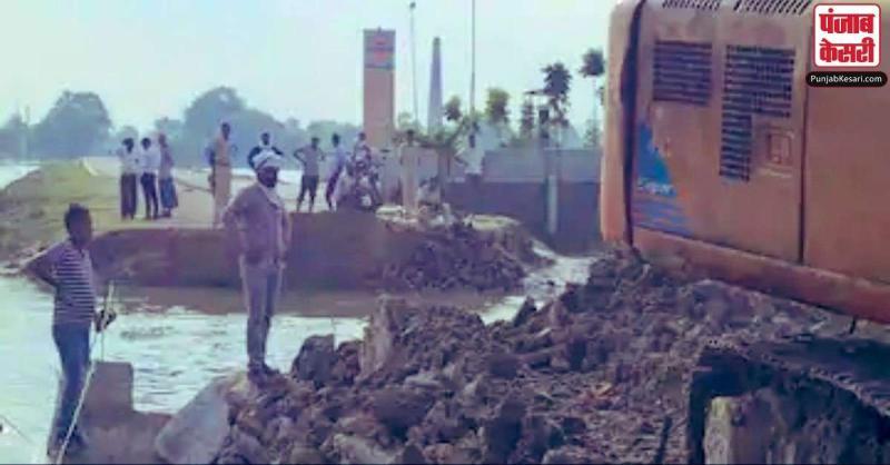 उद्घाटन से पहले ही धाराशायी हुआ बंगरा घाट महासेतु का अप्रोच रोड, 509 करोड़ रुपए है लागत