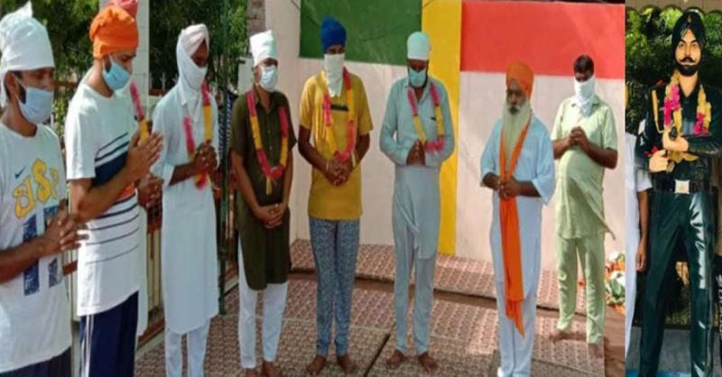 सी.एम द्वारा घोषित वायदे पूरे ना होने के खिलाफ भूख हड़ताल पर बैठे 'अशोक चक्र' विजेता शहीद का परिवार