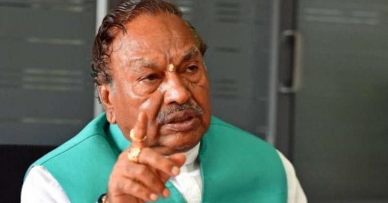 कर्नाटक के पंचायती राज मंत्री एस ईश्वरप्पा कोरोना संक्रमित पाए गए