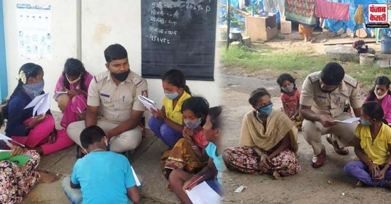 यह जवान उन बच्चों को फ्री में पढ़ाता है जिनके पास नहीं है मोबाइल और इंटरनेट की सुविधा