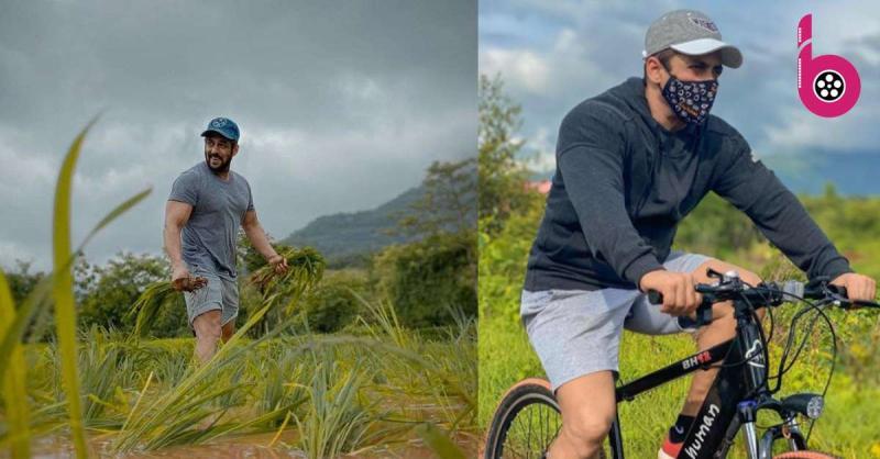 सलमान खान का एक बार फिर दिखा स्वैग, मास्क पहनकर की साइकलिंग