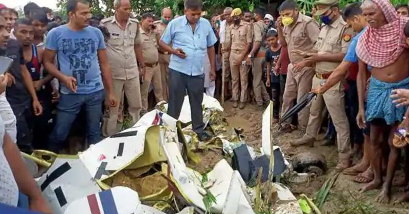 उत्तर प्रदेश : खराब मौसम के कारण आजमगढ़ में एयरक्राफ्ट क्रैश, मौके पर पायलट की मौत