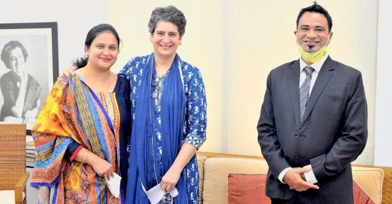 जेल से रिहा होने के बाद पहली बार प्रियंका गांधी से मिले कफील खान