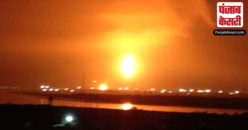 ONGC प्लांट में लगी भयंकर आग, दमकल विभाग मौके पर