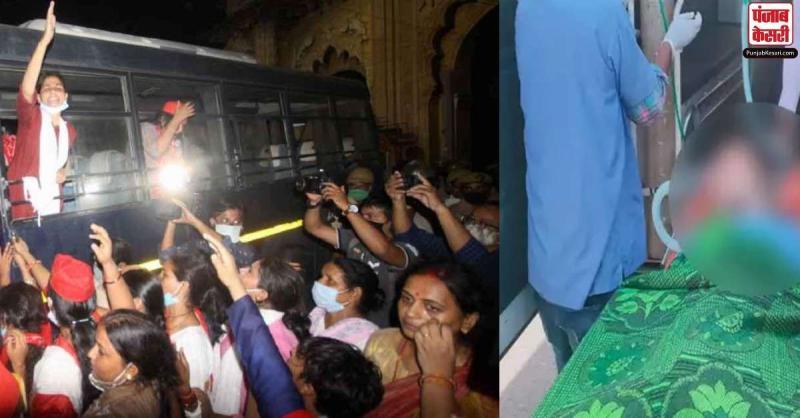 हाथरस: ग्रामीणों के भारी विरोध के बीच गैंगरेप पीड़िता का कराया गया अंतिम संस्कार