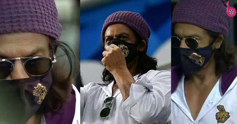 आईपीएल में सफेद टीशर्ट, मास्क और लंबे बाल में शाहरुख खान का स्वैग देख लोग हुए बेकाबू