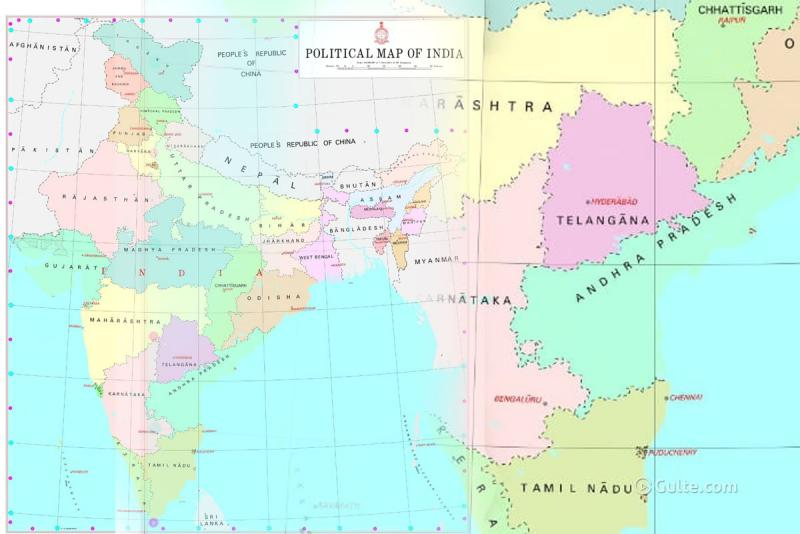 India\'s New Political Map: AP Only State Without Capital ...