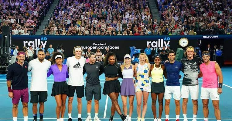 Ahead Of The Australian Open Legends And Stars Do Their Bit