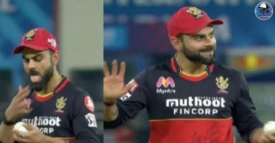 IPL 2020: विराट कोहली ने मैच के दौरान अनजाने में लगा दिया गेंद पर सलाइवा, सचिन तेंदुलकर ने कही ये बात