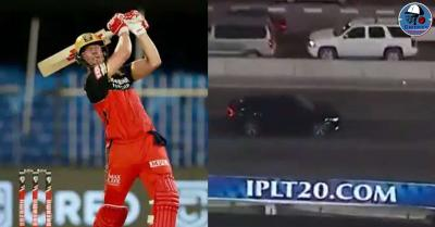 केकेआर के खिलाफ डिविलियर्स ने मैच में लगाया गगनचुंबी छक्का, स्टेडियम के बाहर जाकर कार से टकराई गेंद