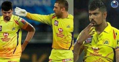 हैदराबाद से मुकाबले के बीच एमएस धोनी ने खोया आपा,गेंदबाज के छक्का जमाने पर फूटा कर्ण शर्मा पर गुस्सा