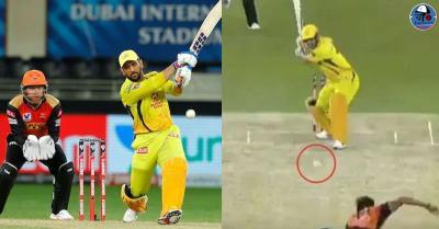 एमएस धोनी ने बॉल को बनाया रॉकेट,क्रिकेटर के छक्के को देख लोग बोले-शेर बूढ़ा नहीं हुआ