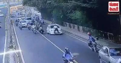 दिल्ली में ट्रैफिक पुलिस को कार के बोनट पर लटका कर 400 मीटर तक घसीटा, 2 गिरफ्तार
