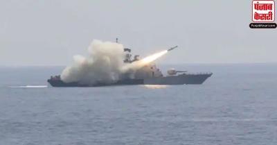 नौसेना ने अपने दमखम की तैयारियों का किया प्रदर्शन, एंटी शिप मिसाइल का वीडियो किया जारी