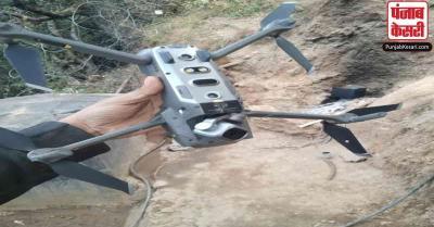 भारतीय सेना ने LoC के पास मार गिराया चीन में बना पाकिस्तान का ड्रोन क्वाडकॉप्टर