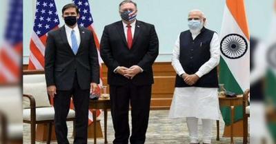2+2 वार्ता के बाद माइक पोम्पिओ और मार्क एस्पर ने PM मोदी से की मुलाकात