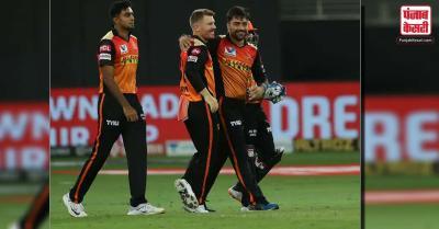 SRH vs DC ( IPL 2020 ) : साहा, वॉर्नर और राशिद ने सनराइजर्स को दिलाई दिल्ली पर जीत