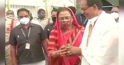 CM शिवराज ने तिरुपति में बालाजी के किए दर्शन, जीत के भगवान वेंकटेश्वर का किया धन्यवाद