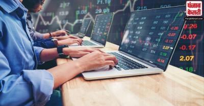 शेयर बाजार : सेंसेक्स और निफ्टी में हरे निशान के साथ कारोबार