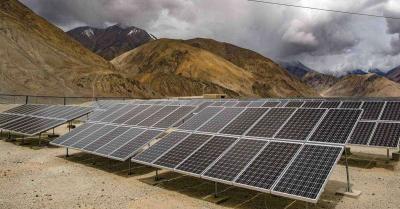 मेक इन इंडिया' पहल के तहत लद्दाख में लेह वायु सेना स्टेशन पर स्थापित हुई सबसे बड़ी सौर ऊर्जा परियोजना