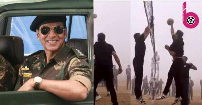 अक्षय कुमार ने आर्मी डे के मौके पर जवानों के साथ खेला वॉलीबॉल, वायरल हुआ वीडियो