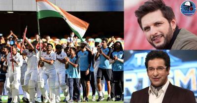गाबा में ऑस्ट्रेलिया को हराने के बाद वसीम अकरम और शाहिद अफरीदी हुए टीम इंडिया के कायल,जमकर की तारीफ