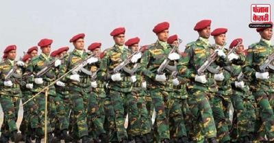 बांग्लादेश की सैन्य टुकड़ी राजपथ पर गणतंत्र दिवस समारोह में हिस्सा लेने को लेकर उत्साहित
