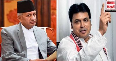 बिप्लब देब के नेपाल में बीजेपी सरकार के बयान पर पडोसी देश ने जताई नाराजगी , दिया ये बयान