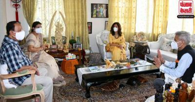 मॉरीशस के प्रधानमंत्री से विदेश मंत्री जयशंकर ने की मुलाकात, उत्कृष्ट' द्विपक्षीय संबंधों की समीक्षा की