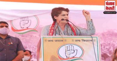 सभा के दौरान प्रियंका गांधी को रोकना पड़ा भाषण, CM अशोक गहलोत को मिलाया फोन