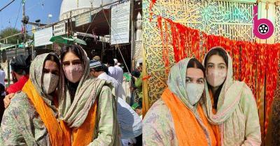 सारा अली खान ने मां अमृता संग अजमेर शरीफ में परिवार के लिए मांगी दुआ,सिर पर दुपट्टा पहने कुछ इस अंदाज में आईं नजर