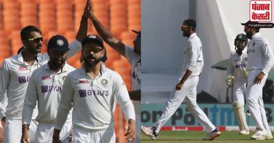 अहमदाबाद टेस्ट : इंग्लैंड की पहली पारी 205 रन पर ढेर , अक्षर ने झटके 4 विकेट