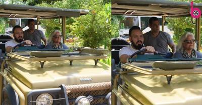 ऑनस्क्रीन मां और बॉडीगार्ड शेरा के साथ सफारी के लिए निकले सलमान खान, तस्वीर हुई वायरल